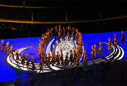 三江侗族大型实景演出《坐妹》