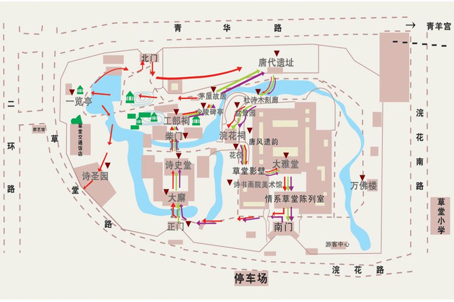 杜甫草堂博物馆园区地图