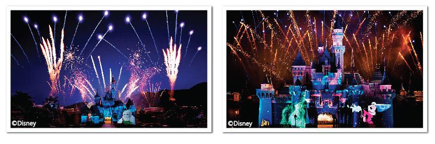香港迪士尼樂園星夢奇緣煙花表演城堡投影新演繹