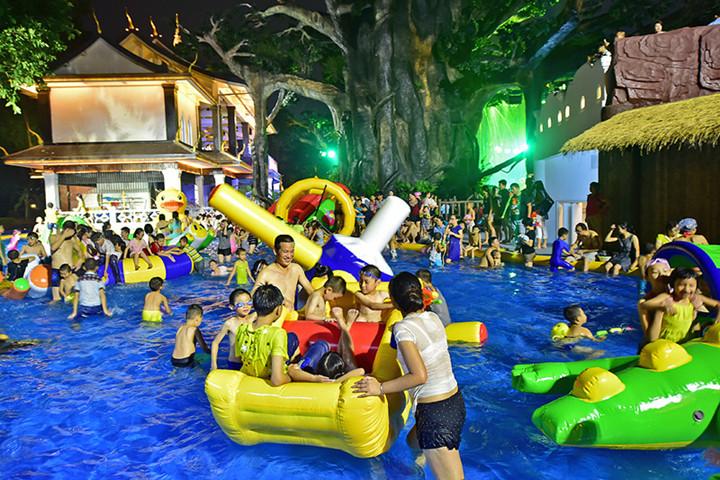 锦绣中华·民俗村童趣梦幻开心儿童玩水池