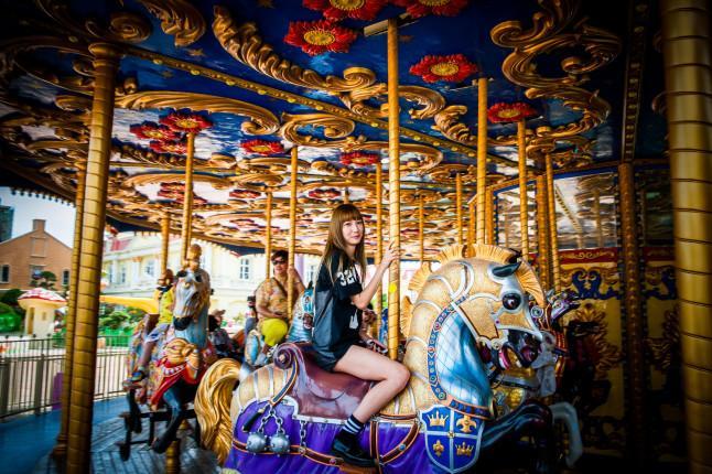 蓬莱欧乐堡梦幻世界皇家卫队转马