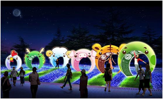 延庆柳沟·纳波湾欢乐世界2018冰雪马戏嘉年华灯光秀