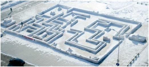 延庆柳沟·纳波湾欢乐世界2018冰雪马戏嘉年华冰雪迷宫区