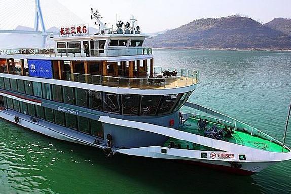 两坝一峡轮船1日游过葛洲坝船闸,游西陵峡,看大坝
