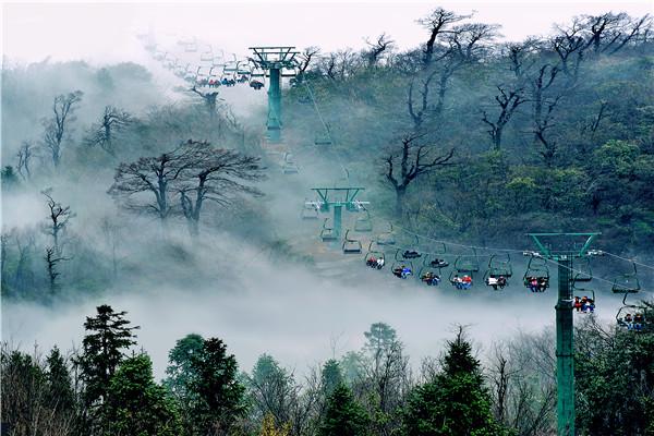 张家界天门山国家森林公园天门洞风景区