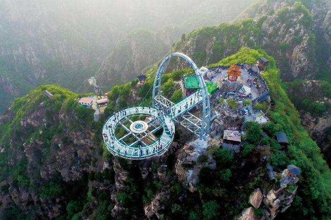 北京平谷石林峡1日巴士深度游[[赏花、踏青]]纯玩无购物 休闲行程