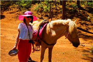丽江拉市海公园、云南的响声骑马、演出1日当地游享特色土鸡火锅,下午茶