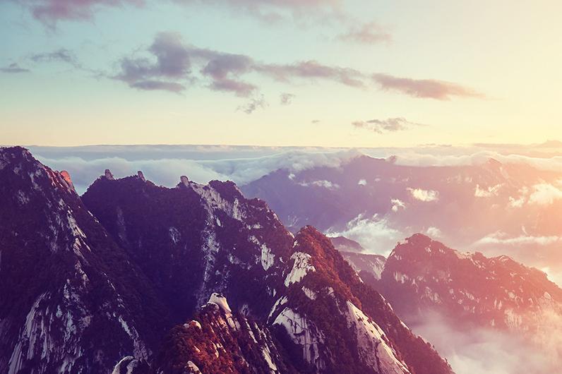 西岳华山一日北峰索道往返1日当地游赠登山营养餐,手套 赠祈福丝带