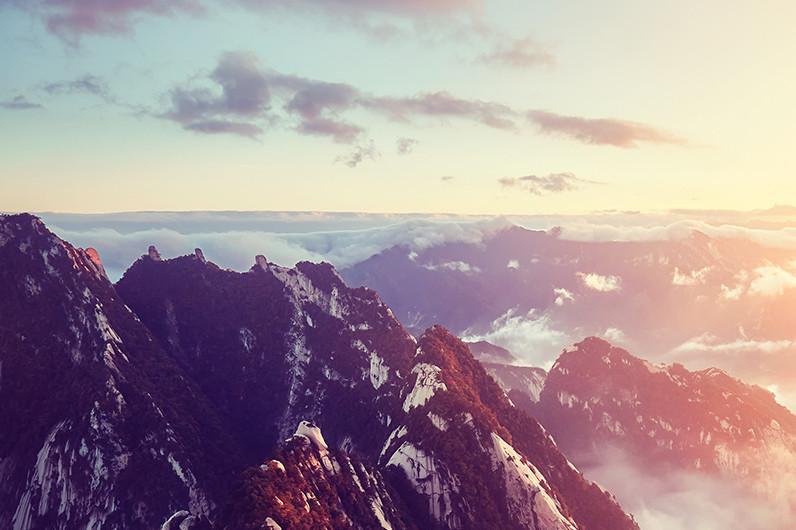 西岳华山一日游西上北下索道往返1日跟团游赠登山营养餐,赠手套,赠祈福丝带,赠登山地图