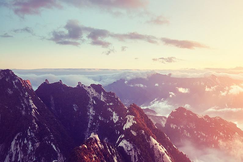 西岳华山一日西峰索道往返1日深度游赠登山营养餐 手套 赠祈福丝带