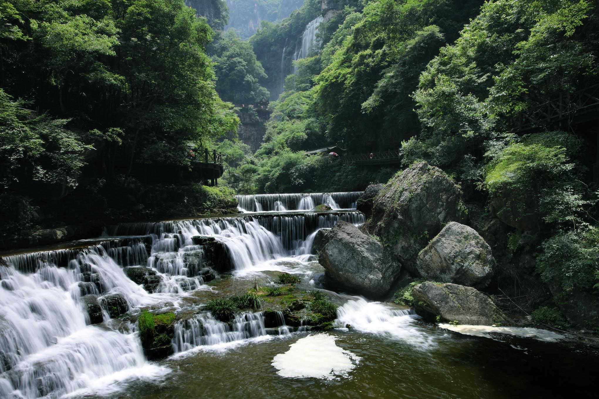 三峡大瀑布 金狮洞 情人泉 1日跟团游[2019大促]赏名瀑,零距离体验穿瀑之旅