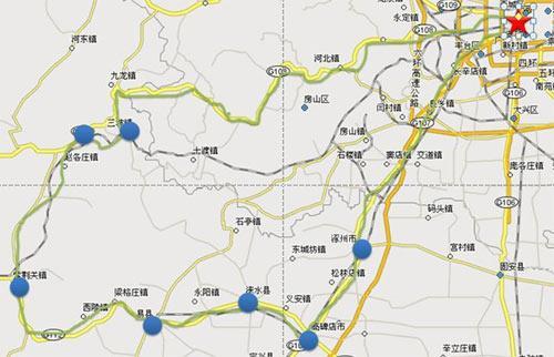 03公里   途经点: 北京-清西陵-紫荆关-野三坡-北京   北京-清西陵