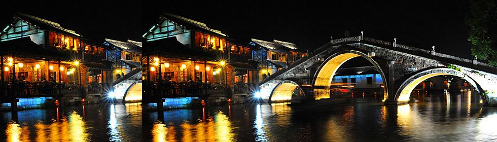 乌镇西栅:在桨声灯影中泛舟游河