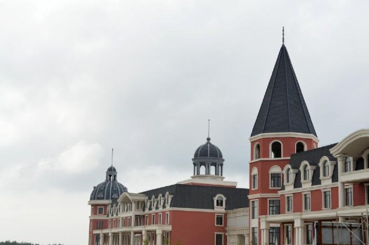 珲春口岸附近的俄式建筑图片