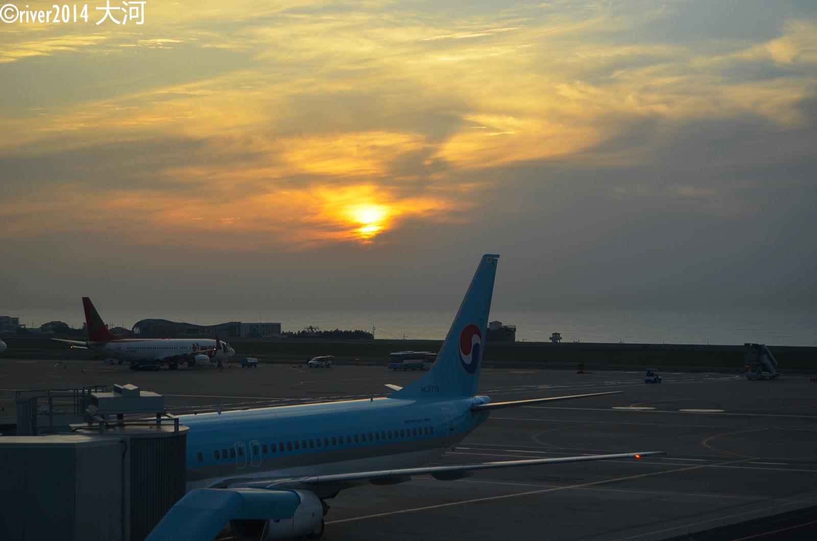 济州岛 到达济州机场,已经是日落时分.