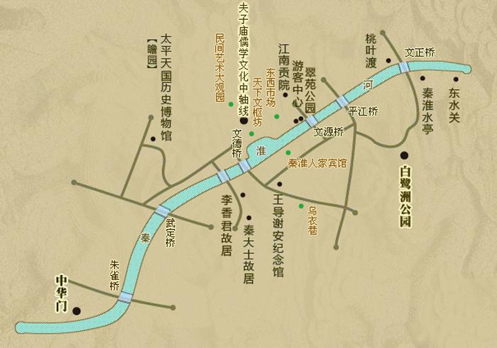 景区地图 @夫子庙秦淮风光带官网