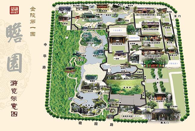 瞻园导览地图 @南京瞻园景区官网
