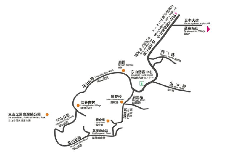 东山导览地图 @苏州吴中太湖旅游区官网