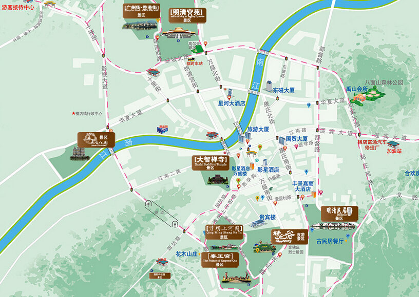 横店影视城地图