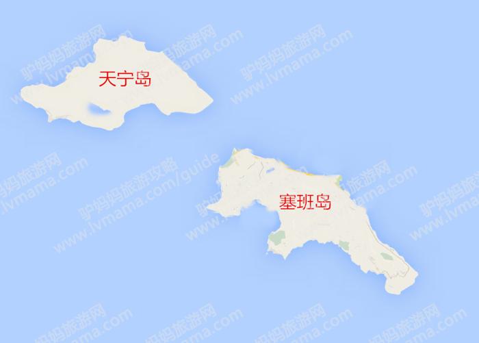 塞班岛区域图