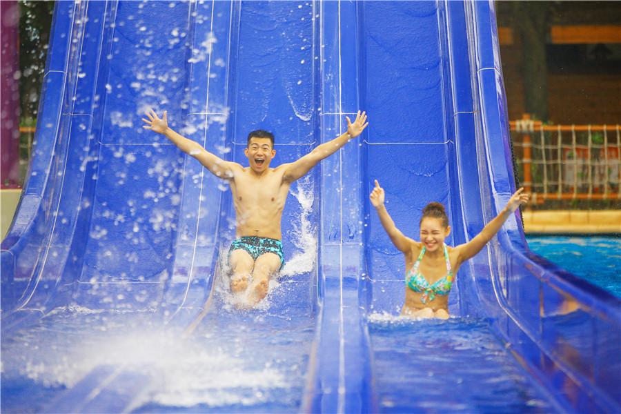 天目湖水世界自由落体一极限高速娱乐体验项目