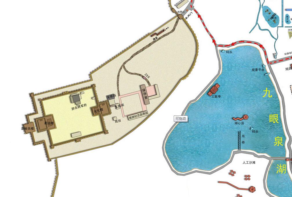 嘉峪關關城導覽圖
