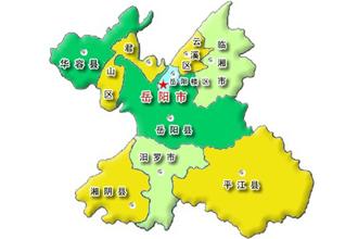 岳阳区域分布地图 @ 岳阳政府网站