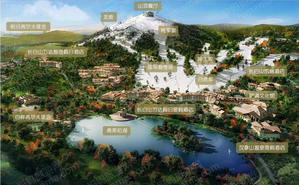 长白山万达滑雪场导览图