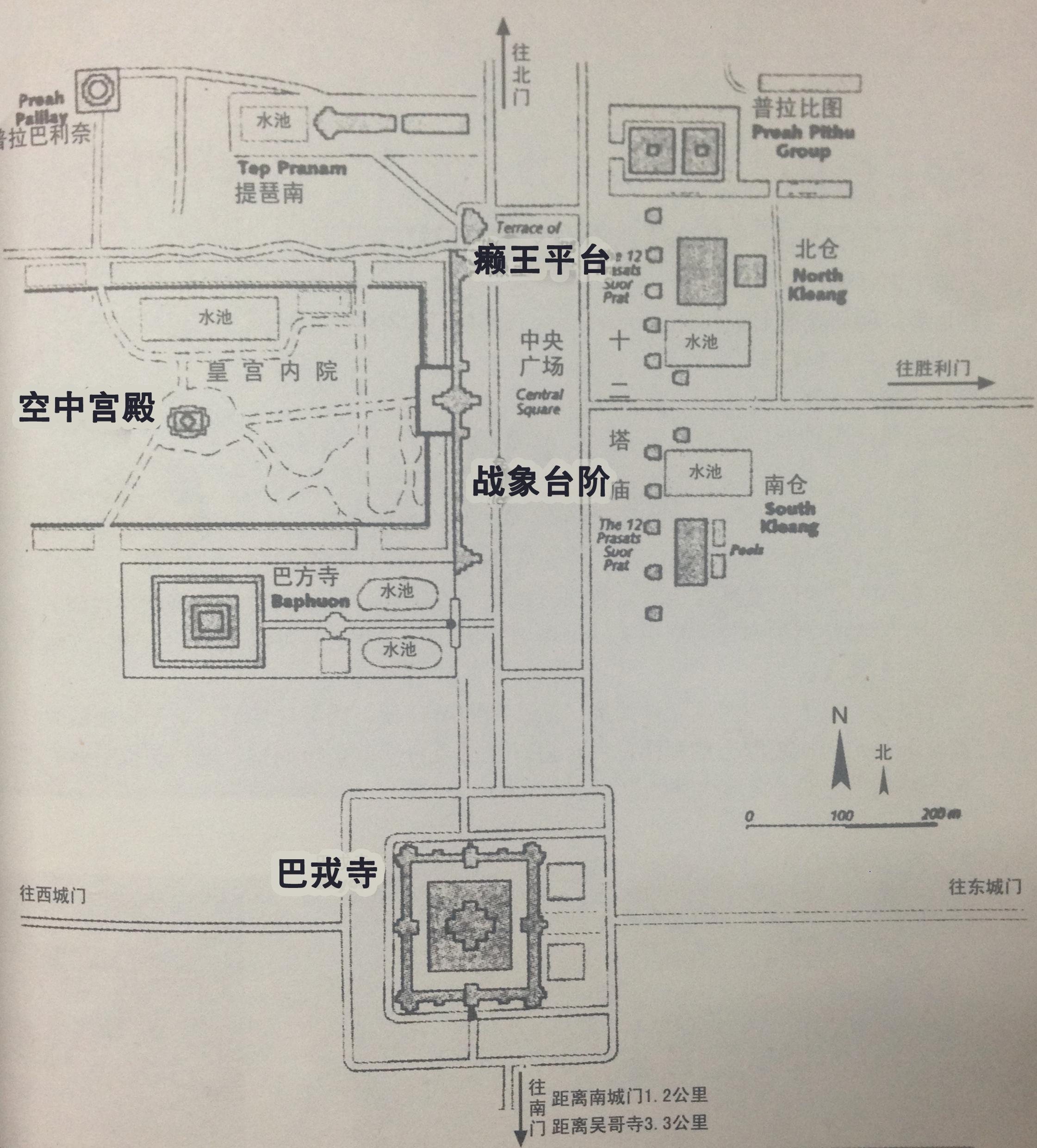 通王城中心建筑遗迹指示图