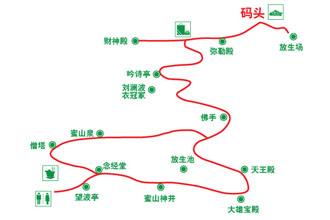 密山岛导览图(图片来源自@千岛湖旅游官网)