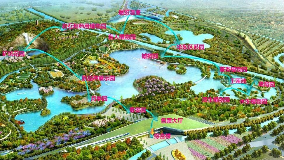 上海辰山植物园推荐路线图 @上海辰山植物园官网