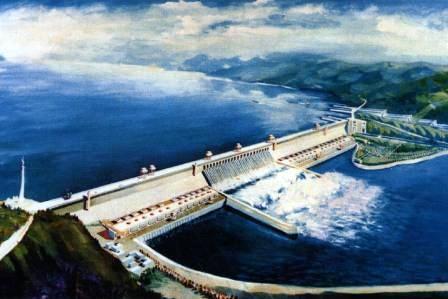 三峡大坝全景