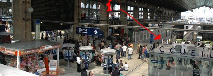 法国火车站欧洲通票第一次使用敲章处@法国旅游总署官微
