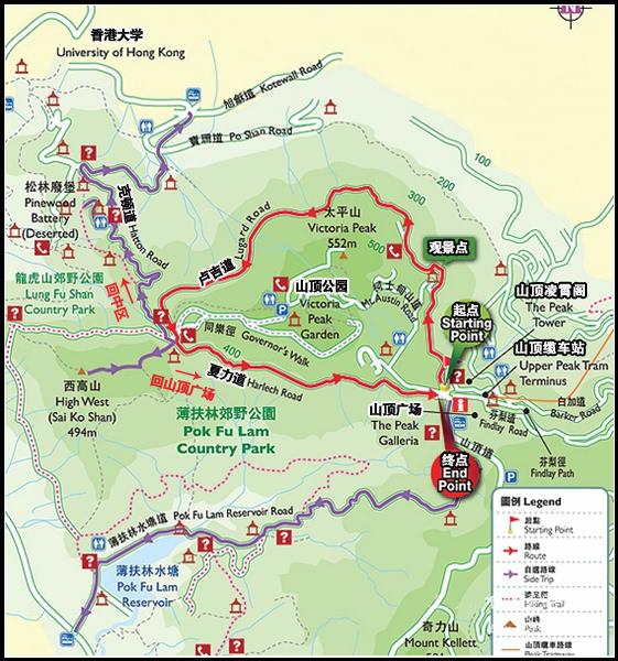 太平山顶-卢吉道导览图@攻略频道