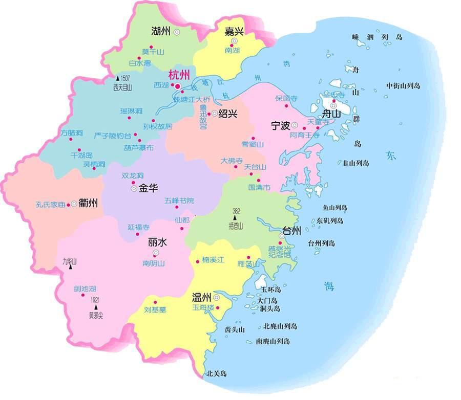 浙江區域地圖@攻略頻道