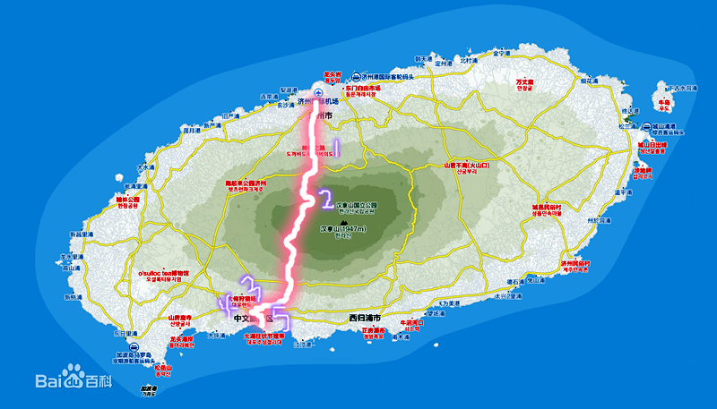 一天一线玩转济州岛著名景点