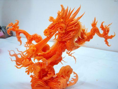 亚洲  食雕 食雕,即食品雕刻,利用身边极为常见的食材雕刻出最美最