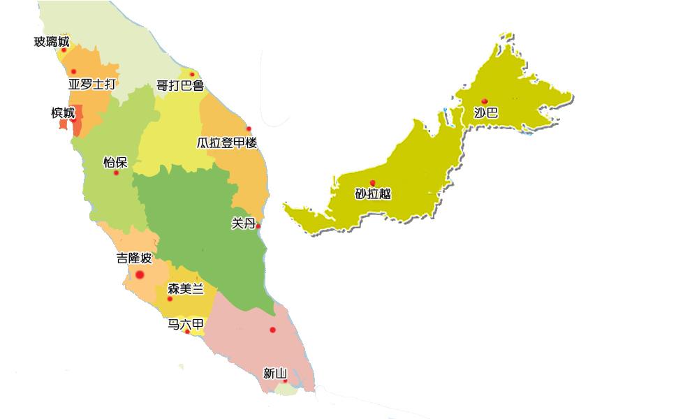 马来西亚地图@攻略频道