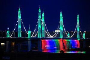 走过银川滨河黄河大桥,看滨河新区美景