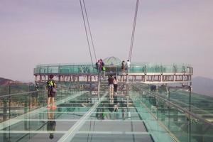 520和喜欢的人去冒险,世界最大的玻璃观景平台——石林峡玻璃观景台