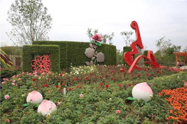 2017首届北京大兴月季主题园跨年灯会北京大兴世界月季主题园