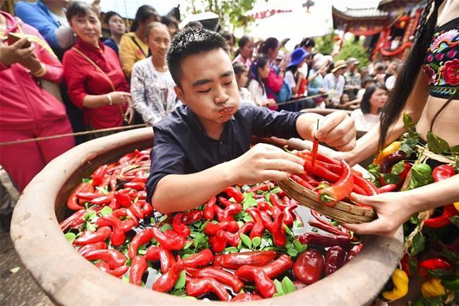 丽江宋城旅游区                                            吃辣椒