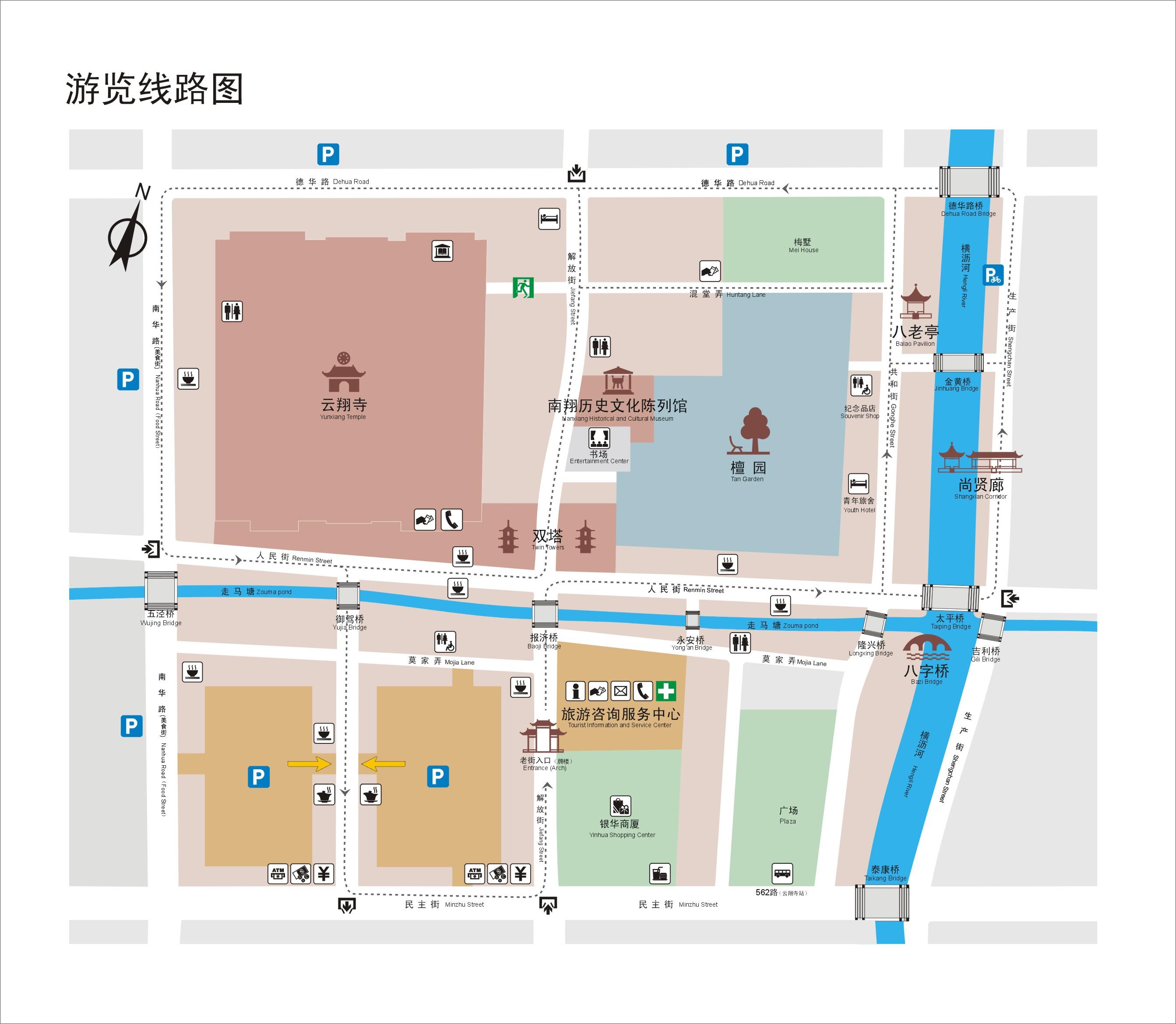 南翔老街平面图 @ 南翔老街官网