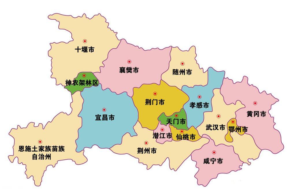 湖北省区域分布图 @网络-湖北城市简介 湖北最佳旅游时间 季节 行政