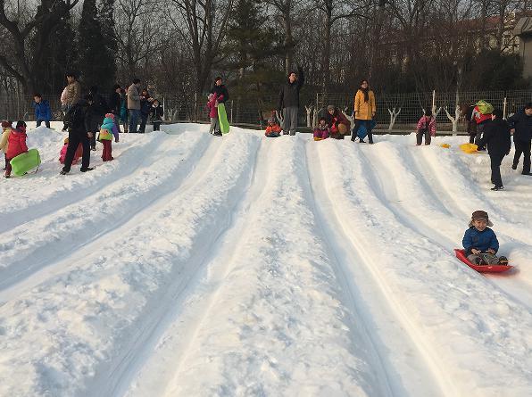 第九届龙潭湖冰雪节雪橇乐园