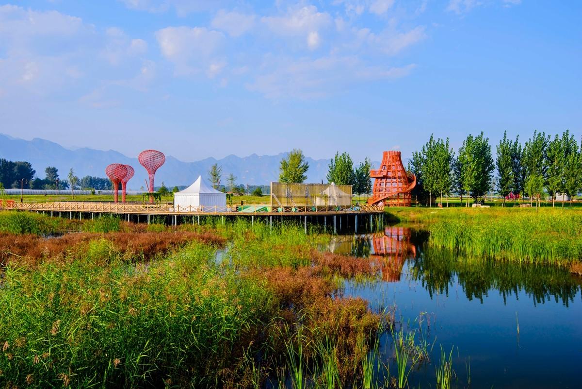 世界葡萄博览园湿地茂林憩清凉