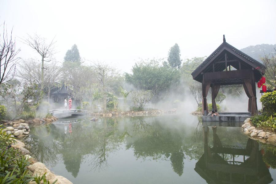 茂名御水古温泉度假村养眼养心的山水田园