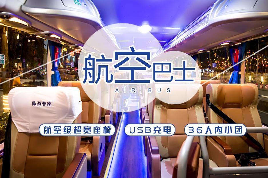 【航空巴士】重庆VIP武隆天生三桥 龙水峡地缝巴士1日深度游(上门接 纯玩0购物 SVIP头等舱  USB充电 耳麦讲解)