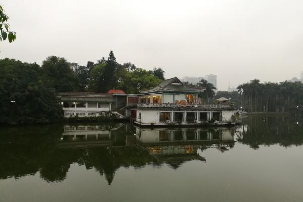 【与佳同行,自在游天下】阴雨天中的南宁人民公园很静美