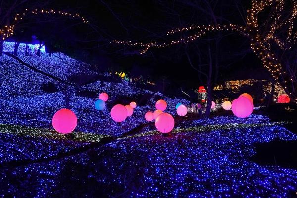 【日本】關東三大燈光秀之一,超酷炫浪漫的相模湖度假村燈光秀了解下